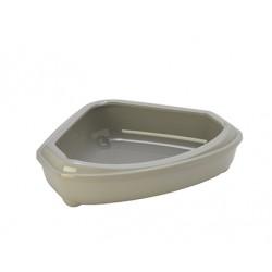 Corner tray grey